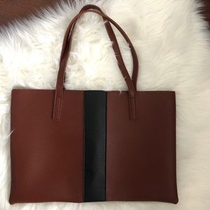 Vince Camuto Brown Vega Leather Tote Bag Purse